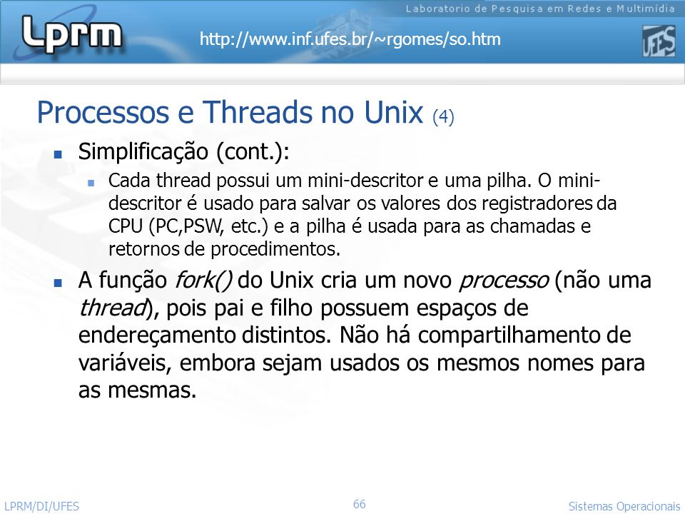 Processos e Threads no Unix (4)
