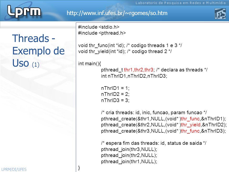 Threads - Exemplo de Uso (1)