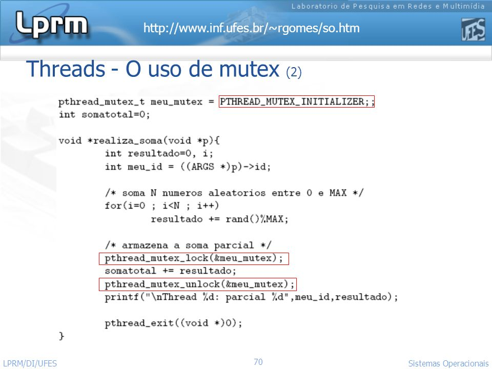 Threads - O uso de mutex (2)