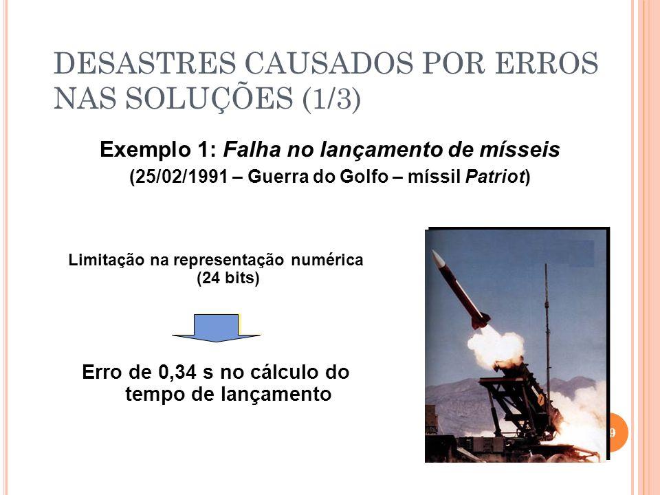 DESASTRES CAUSADOS POR ERROS NAS SOLUÇÕES (1/3)