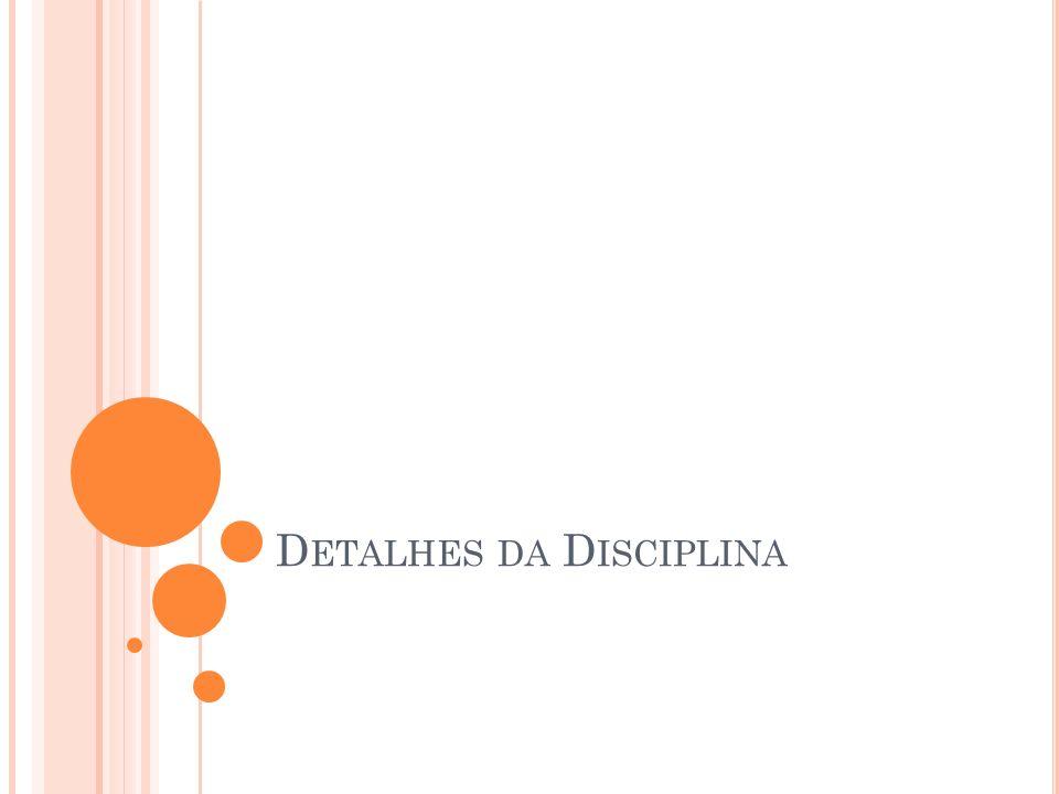 Detalhes da Disciplina