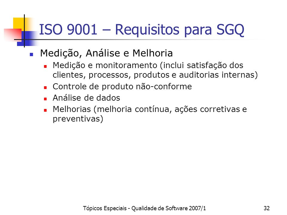 ISO 9001 – Requisitos para SGQ