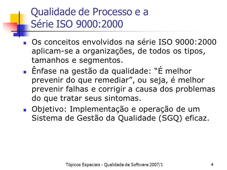 Qualidade de Processo e a Série ISO 9000:2000