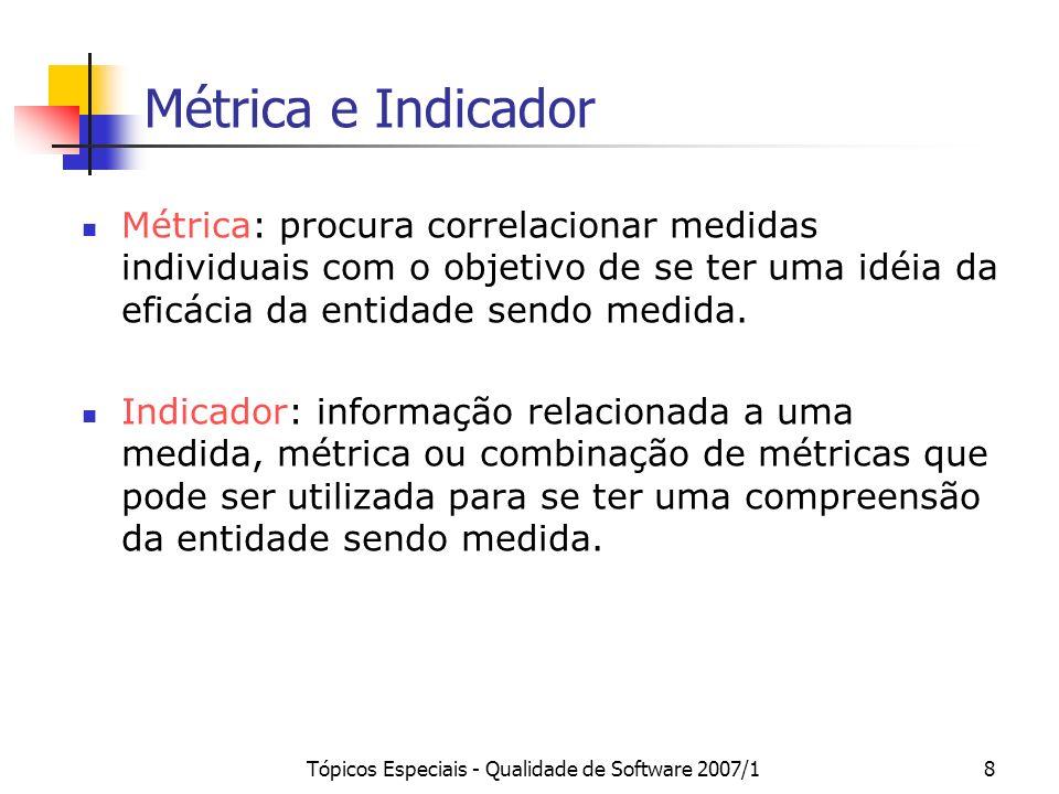 Tópicos Especiais - Qualidade de Software 2007/1
