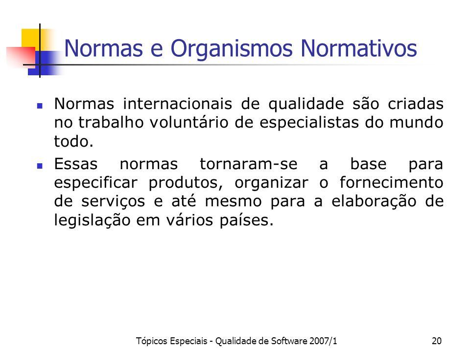 Normas e Organismos Normativos