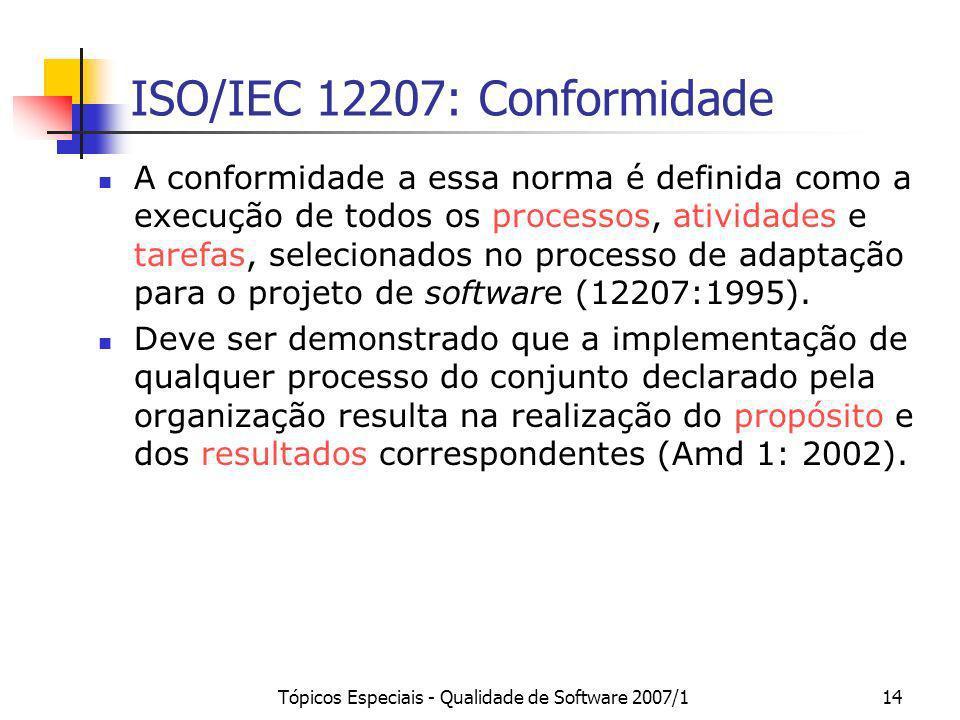 ISO/IEC 12207: Conformidade