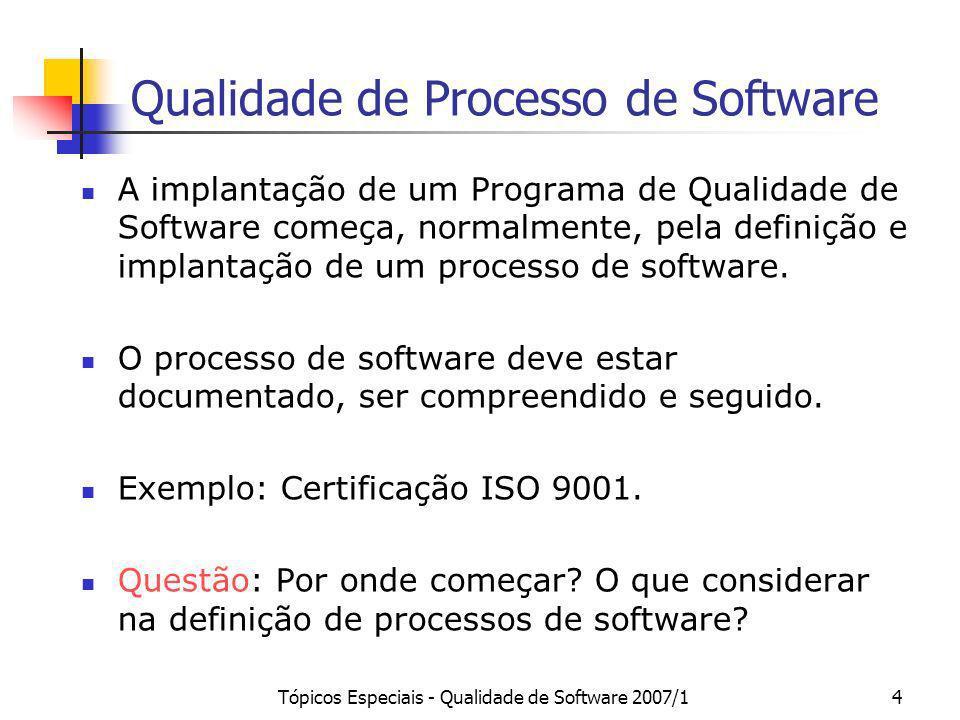 Qualidade de Processo de Software