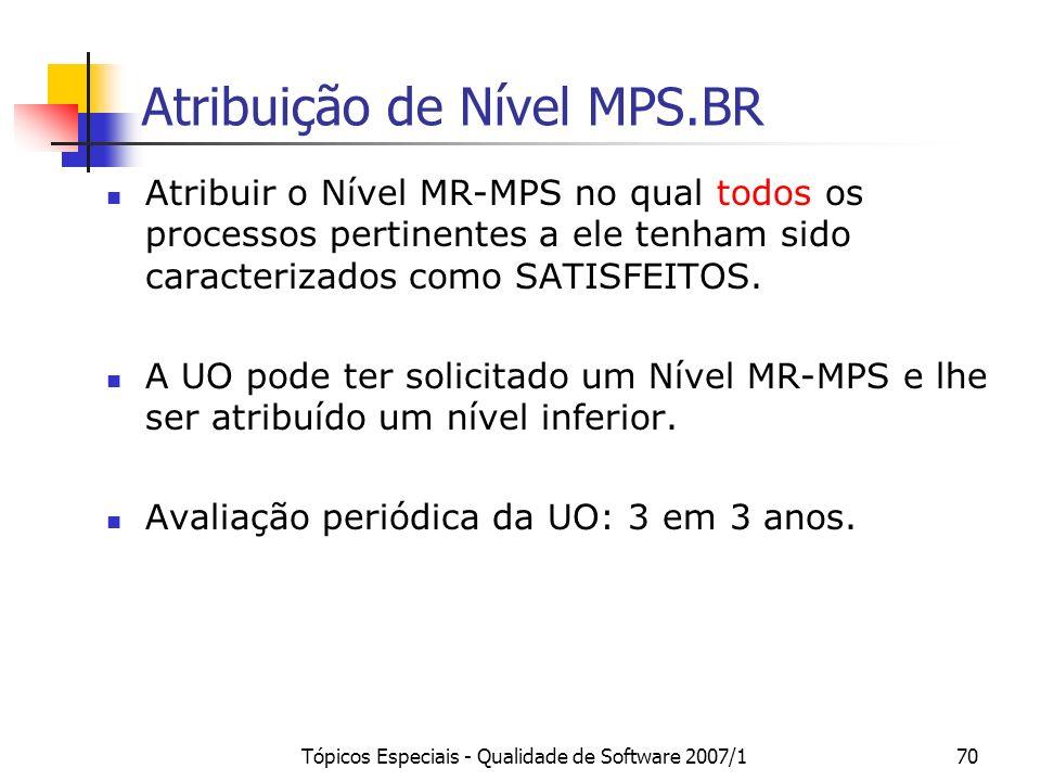 Atribuição de Nível MPS.BR