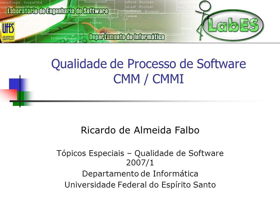 Qualidade de Processo de Software CMM / CMMI