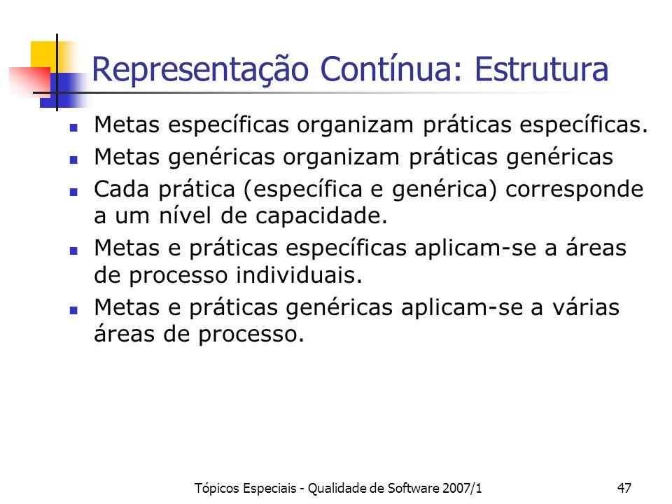 Representação Contínua: Estrutura