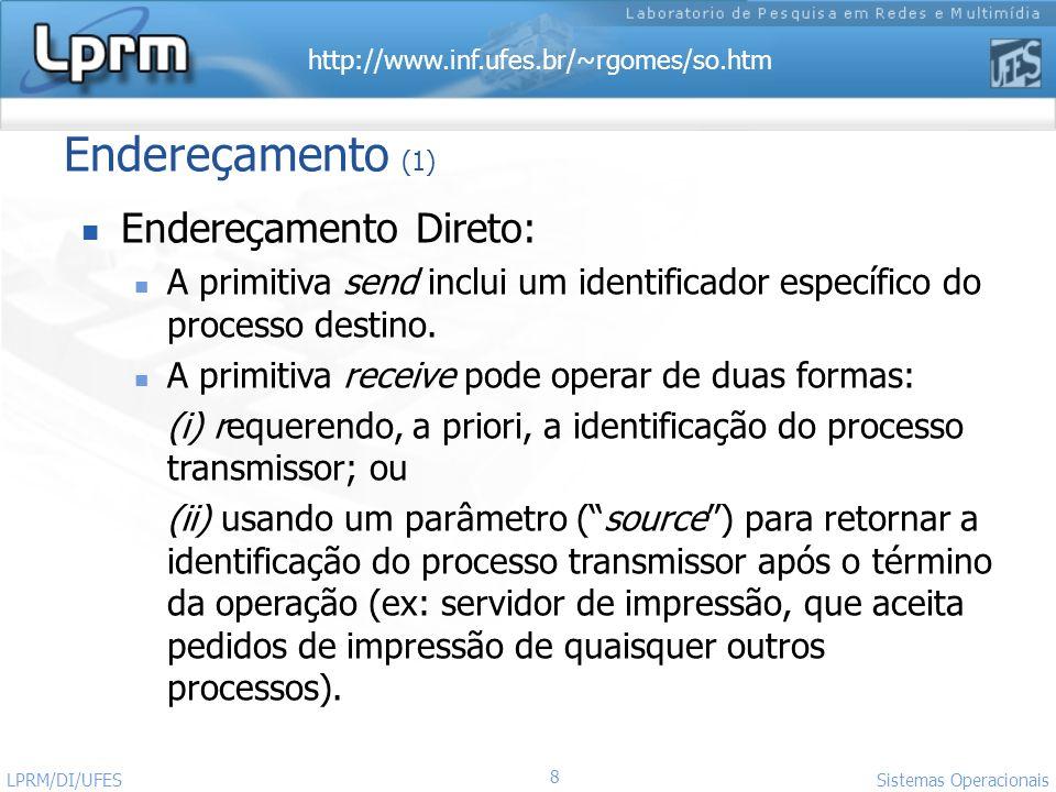 Endereçamento (1) Endereçamento Direto: