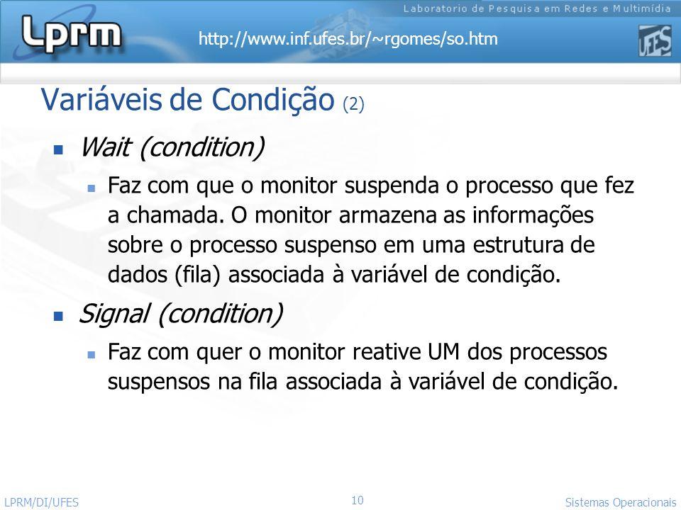 Variáveis de Condição (2)
