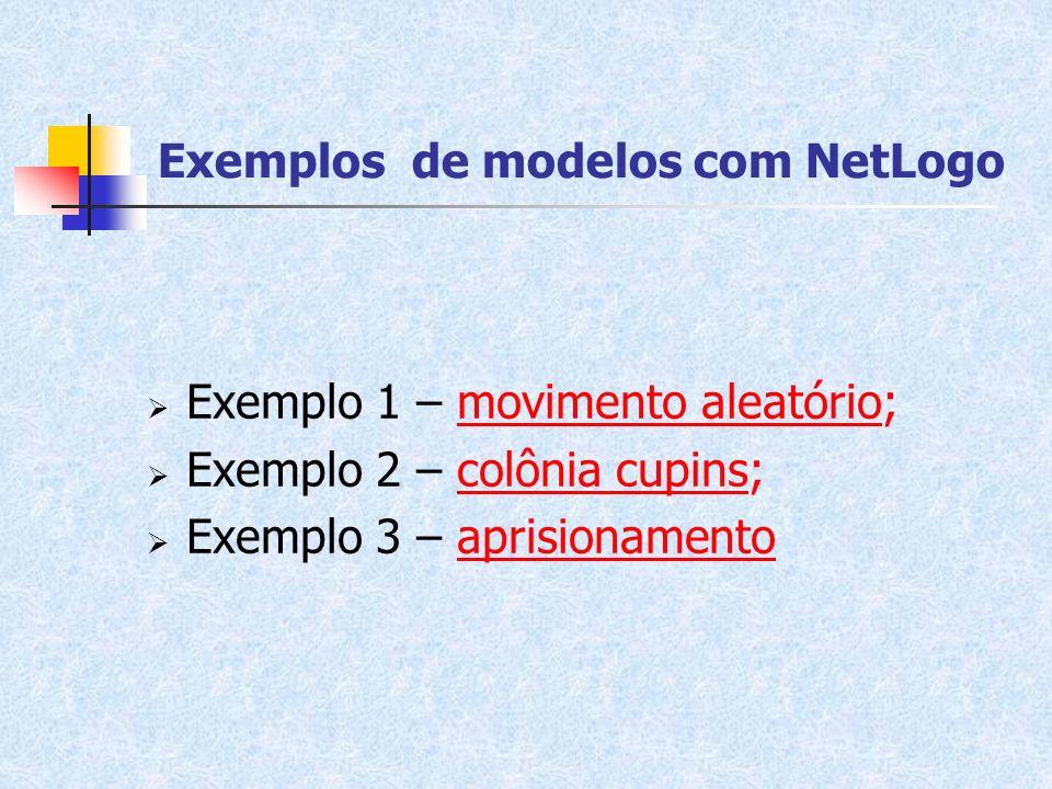 Exemplos de modelos com NetLogo