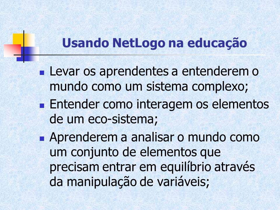 Usando NetLogo na educação