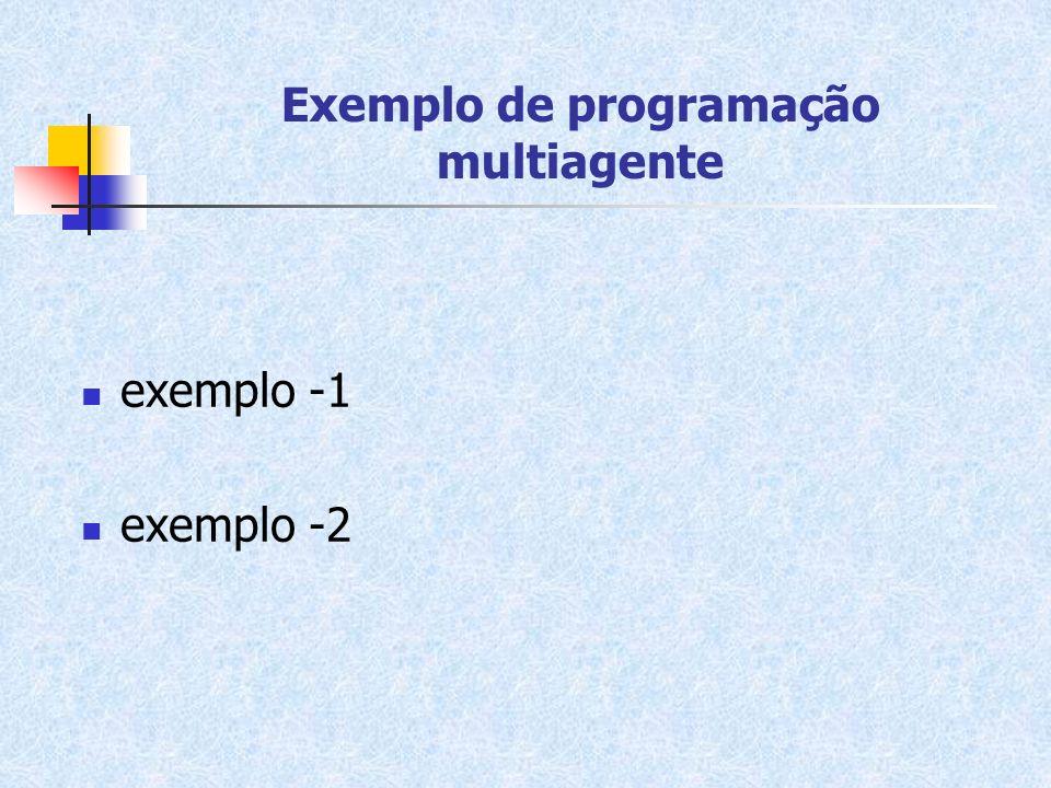 Exemplo de programação multiagente