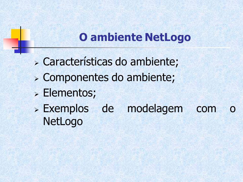 Características do ambiente; Componentes do ambiente; Elementos;