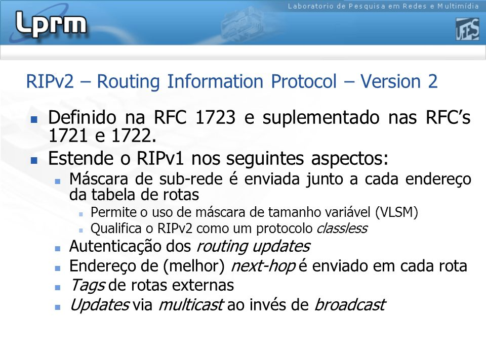 RIPv2 – Routing Information Protocol – Version 2
