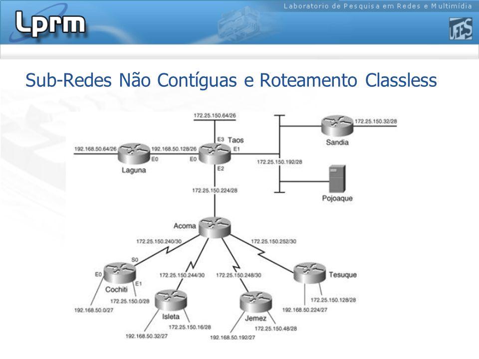 Sub-Redes Não Contíguas e Roteamento Classless
