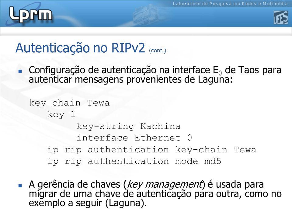 Autenticação no RIPv2 (cont.)