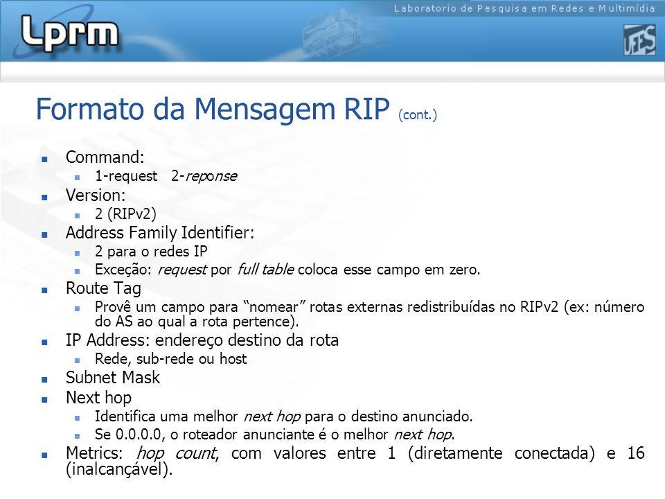 Formato da Mensagem RIP (cont.)