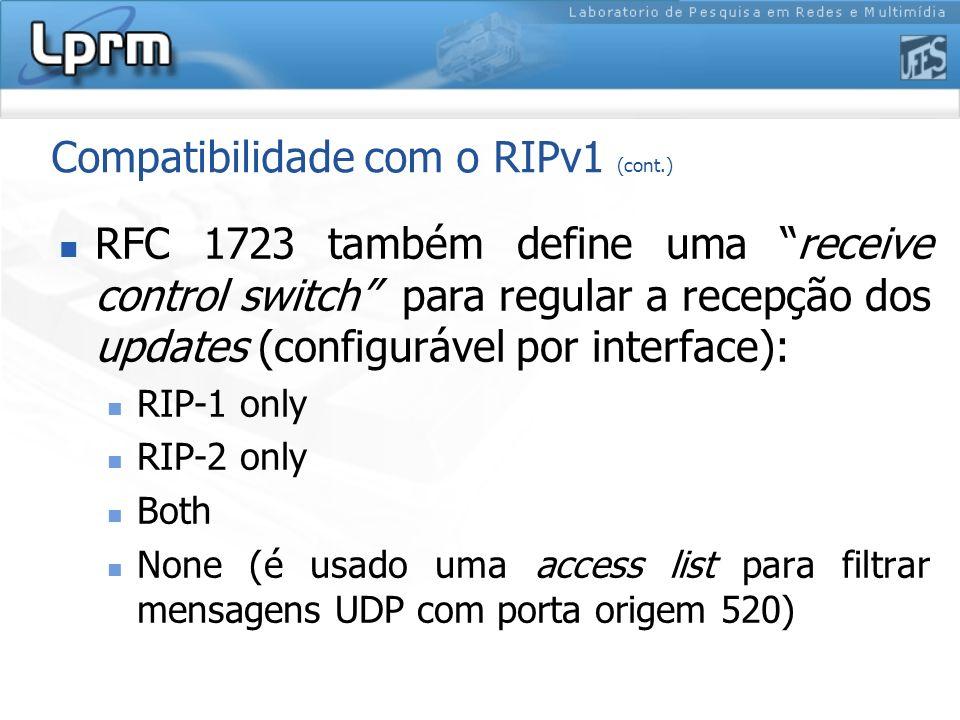 Compatibilidade com o RIPv1 (cont.)