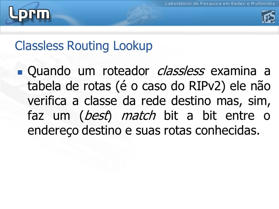 Classless Routing Lookup