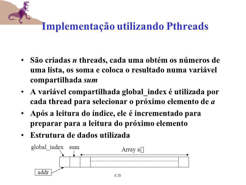 Implementação utilizando Pthreads