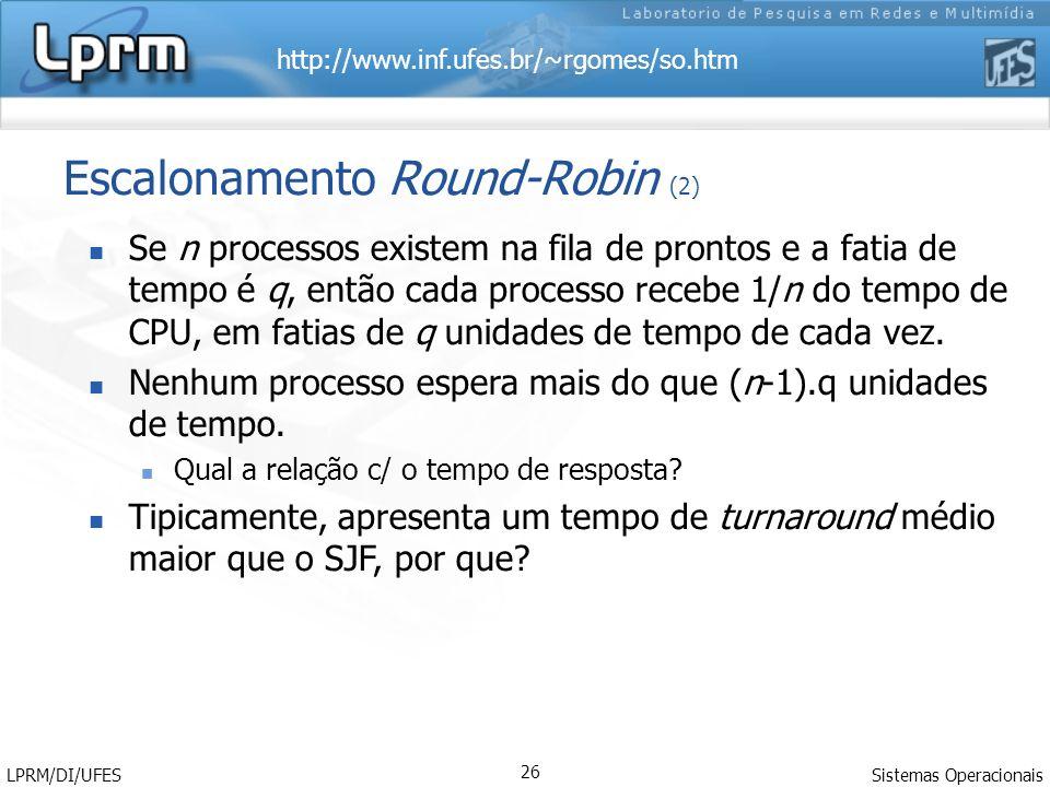 Escalonamento Round-Robin (2)