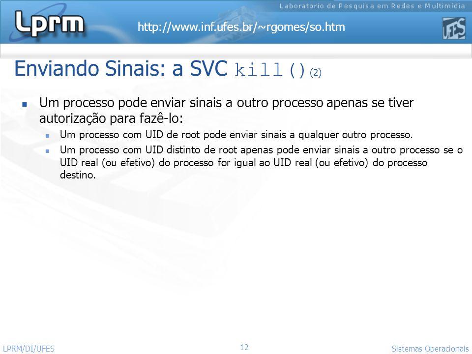 Enviando Sinais: a SVC kill()(2)