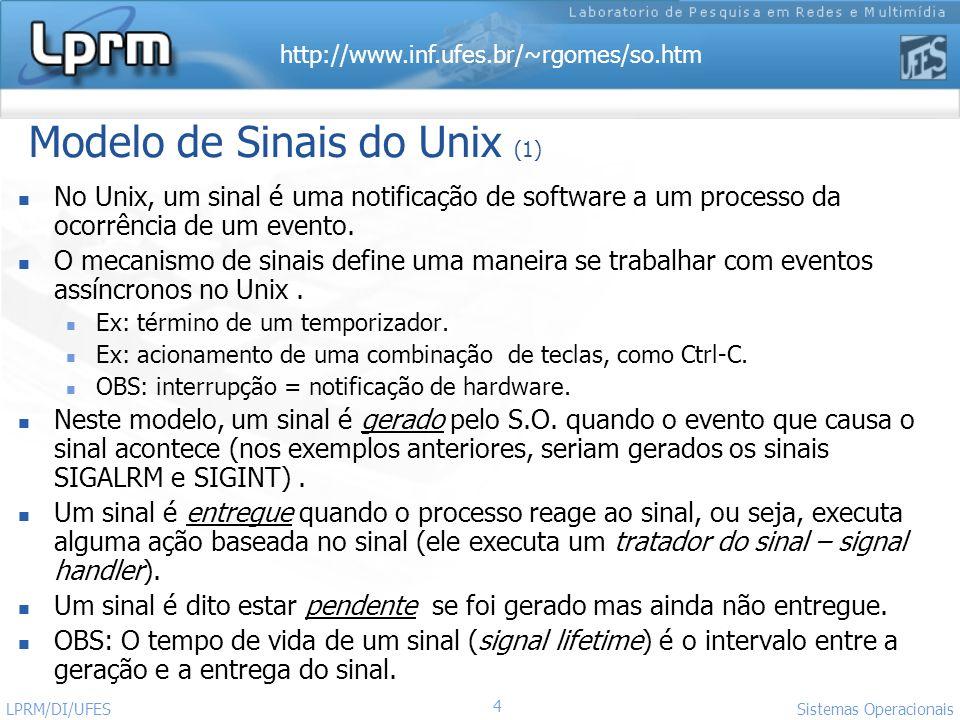 Modelo de Sinais do Unix (1)