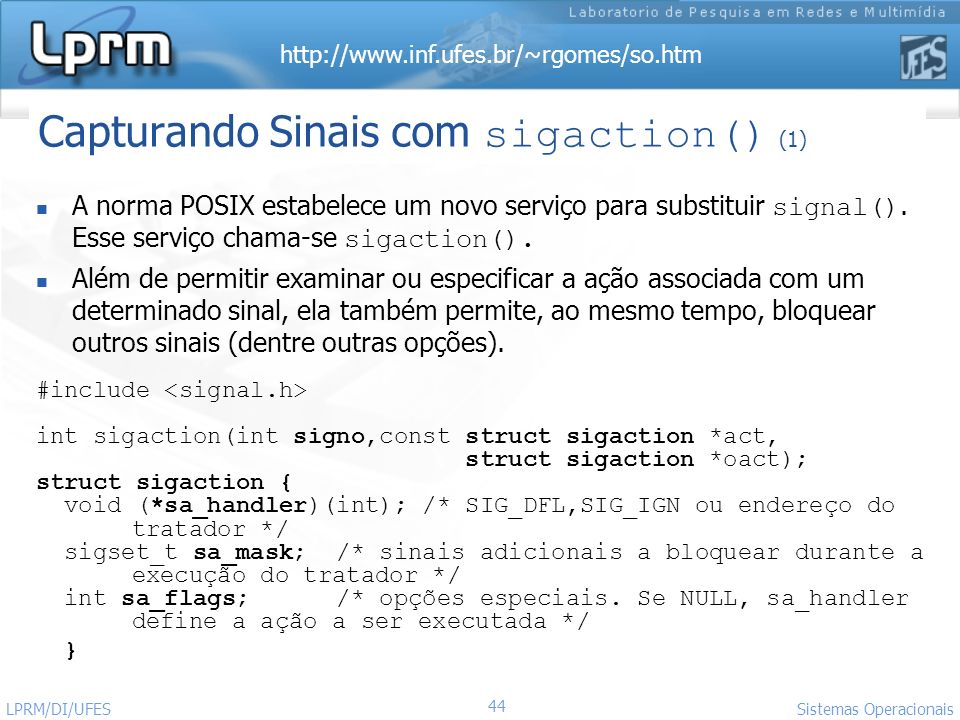 Capturando Sinais com sigaction() (1)