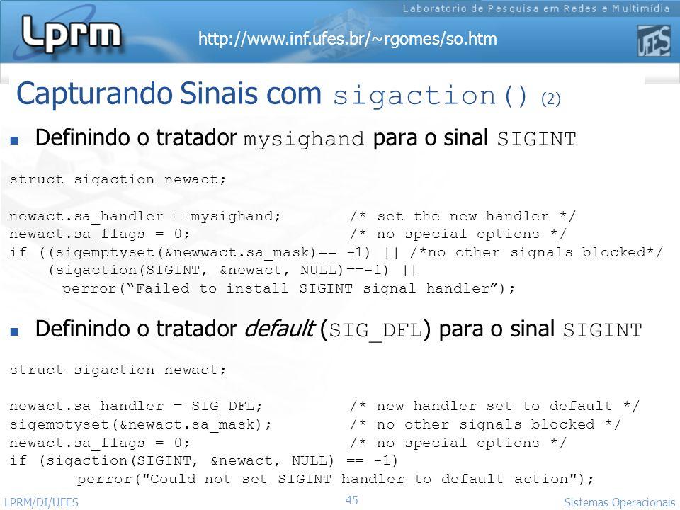 Capturando Sinais com sigaction() (2)