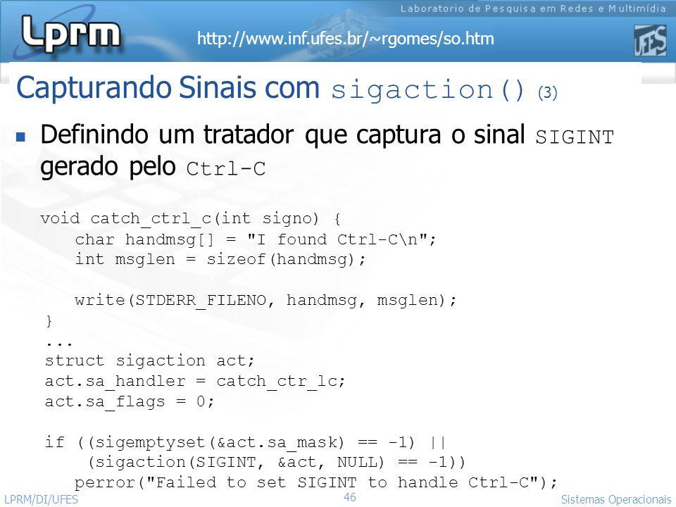 Capturando Sinais com sigaction() (3)