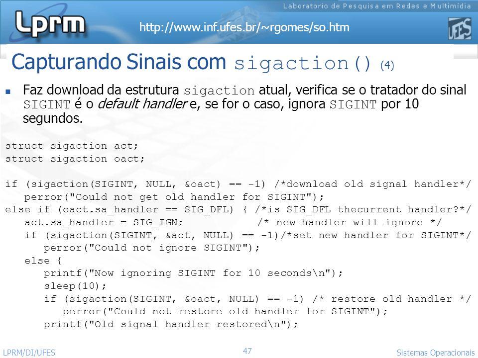 Capturando Sinais com sigaction() (4)