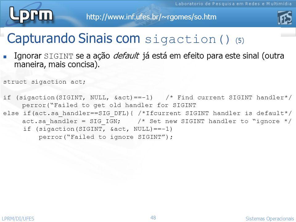 Capturando Sinais com sigaction() (5)