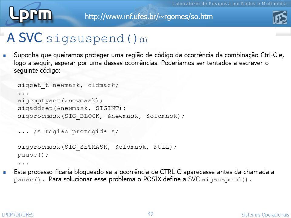 A SVC sigsuspend()(1)