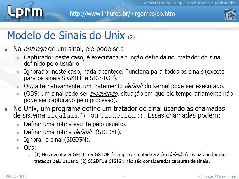 Modelo de Sinais do Unix (2)
