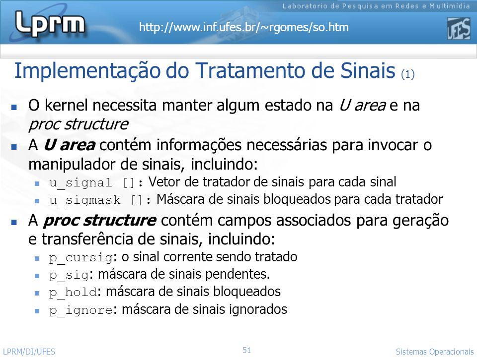 Implementação do Tratamento de Sinais (1)