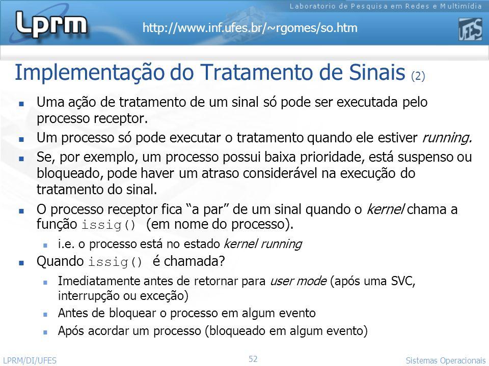 Implementação do Tratamento de Sinais (2)