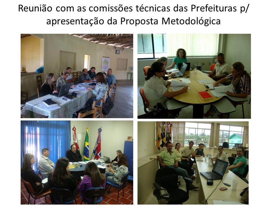 Reunião com as comissões técnicas das Prefeituras p/ apresentação da Proposta Metodológica