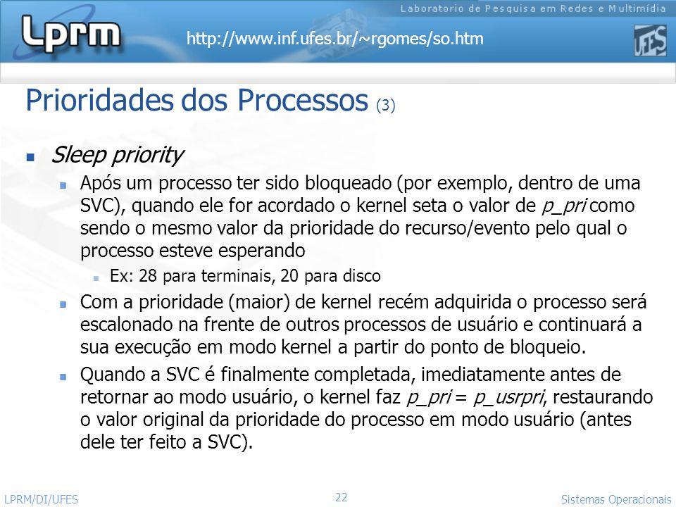 Prioridades dos Processos (3)