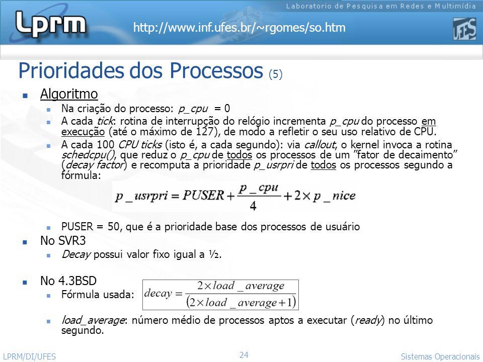 Prioridades dos Processos (5)