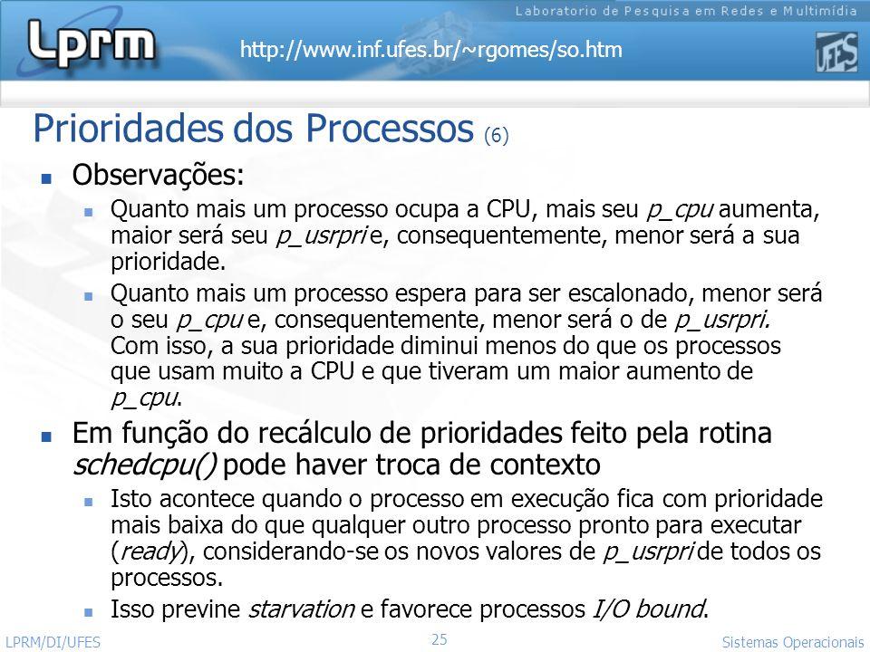 Prioridades dos Processos (6)