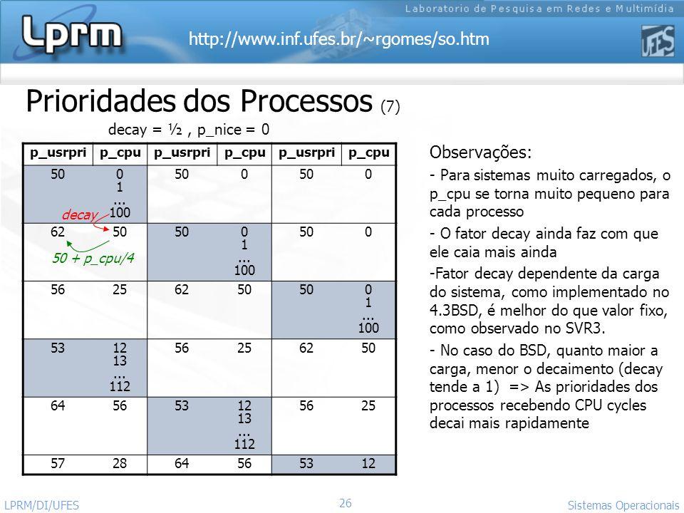 Prioridades dos Processos (7)