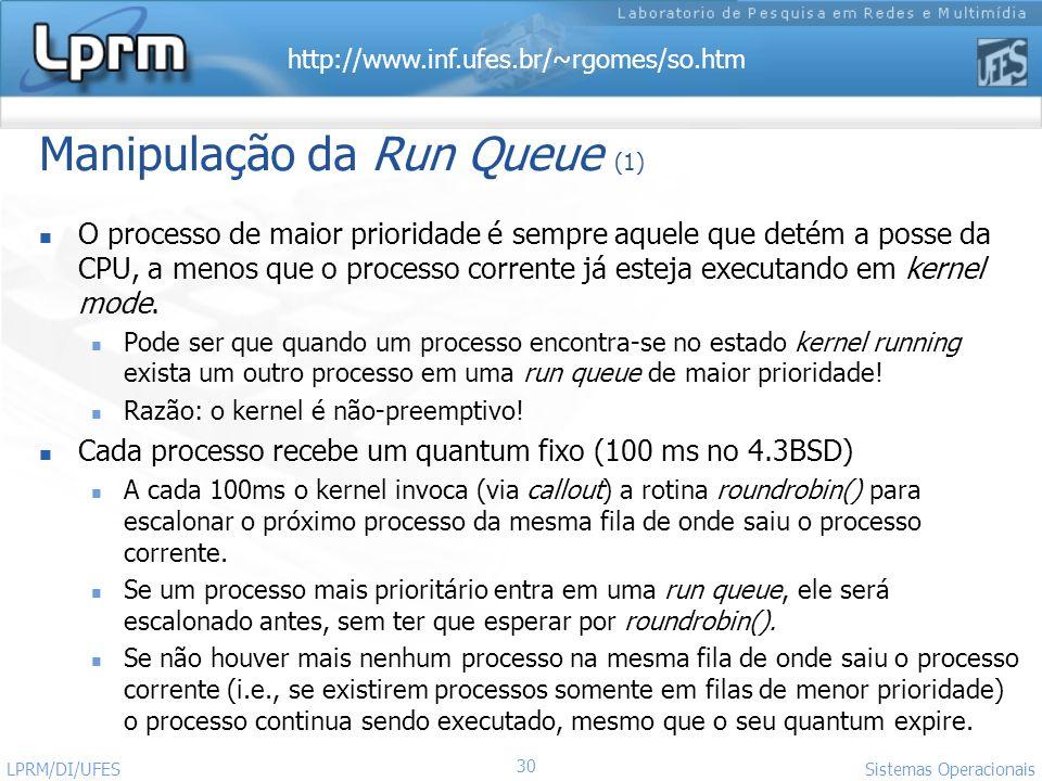 Manipulação da Run Queue (1)
