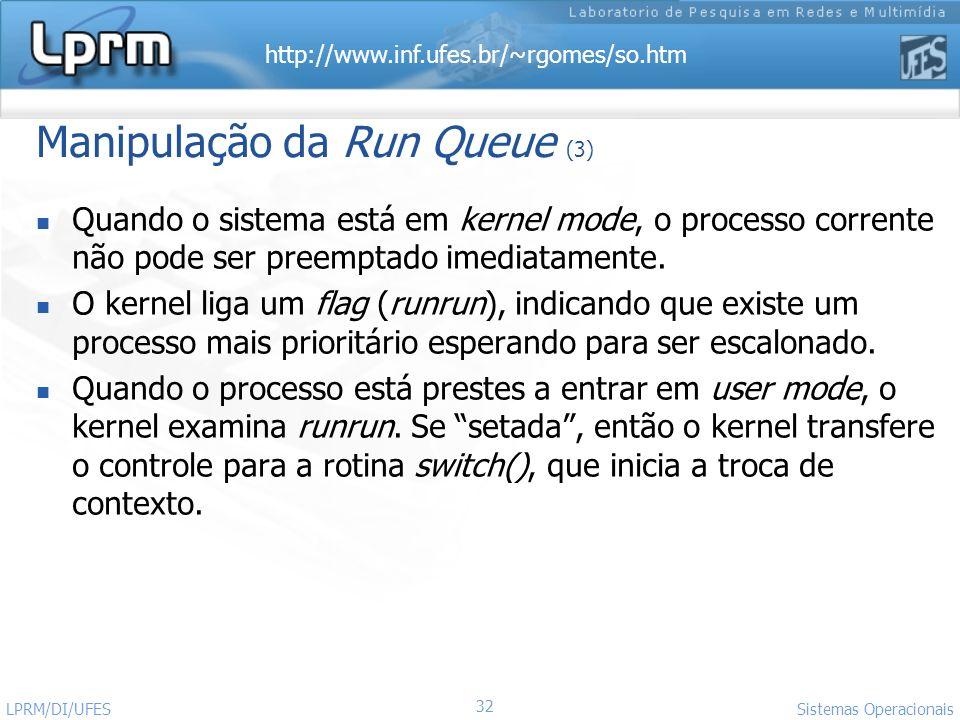 Manipulação da Run Queue (3)