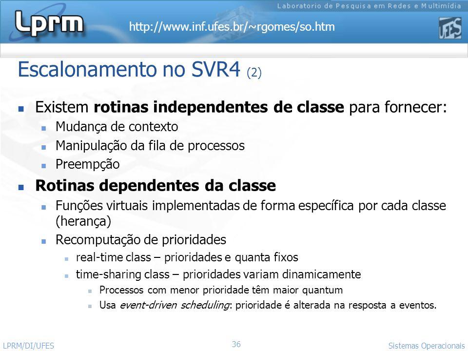 Escalonamento no SVR4 (2)