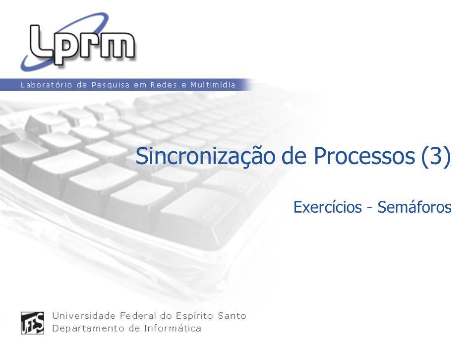 Sincronização de Processos (3) Exercícios - Semáforos