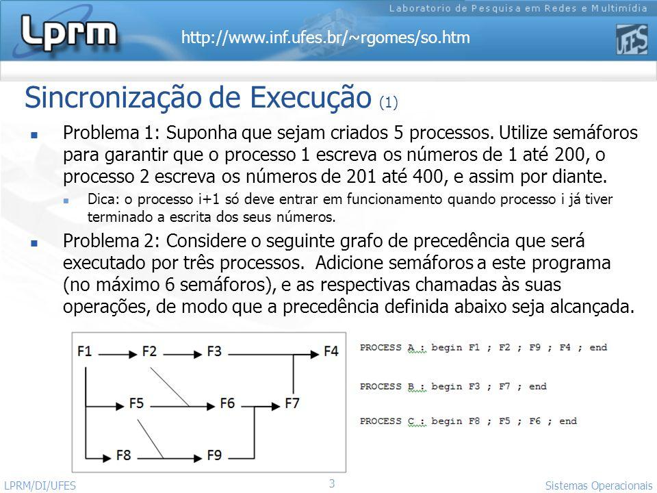 Sincronização de Execução (1)