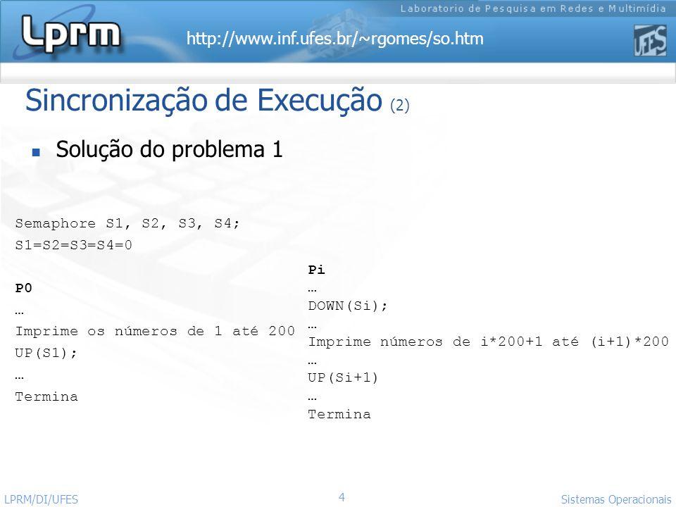 Sincronização de Execução (2)
